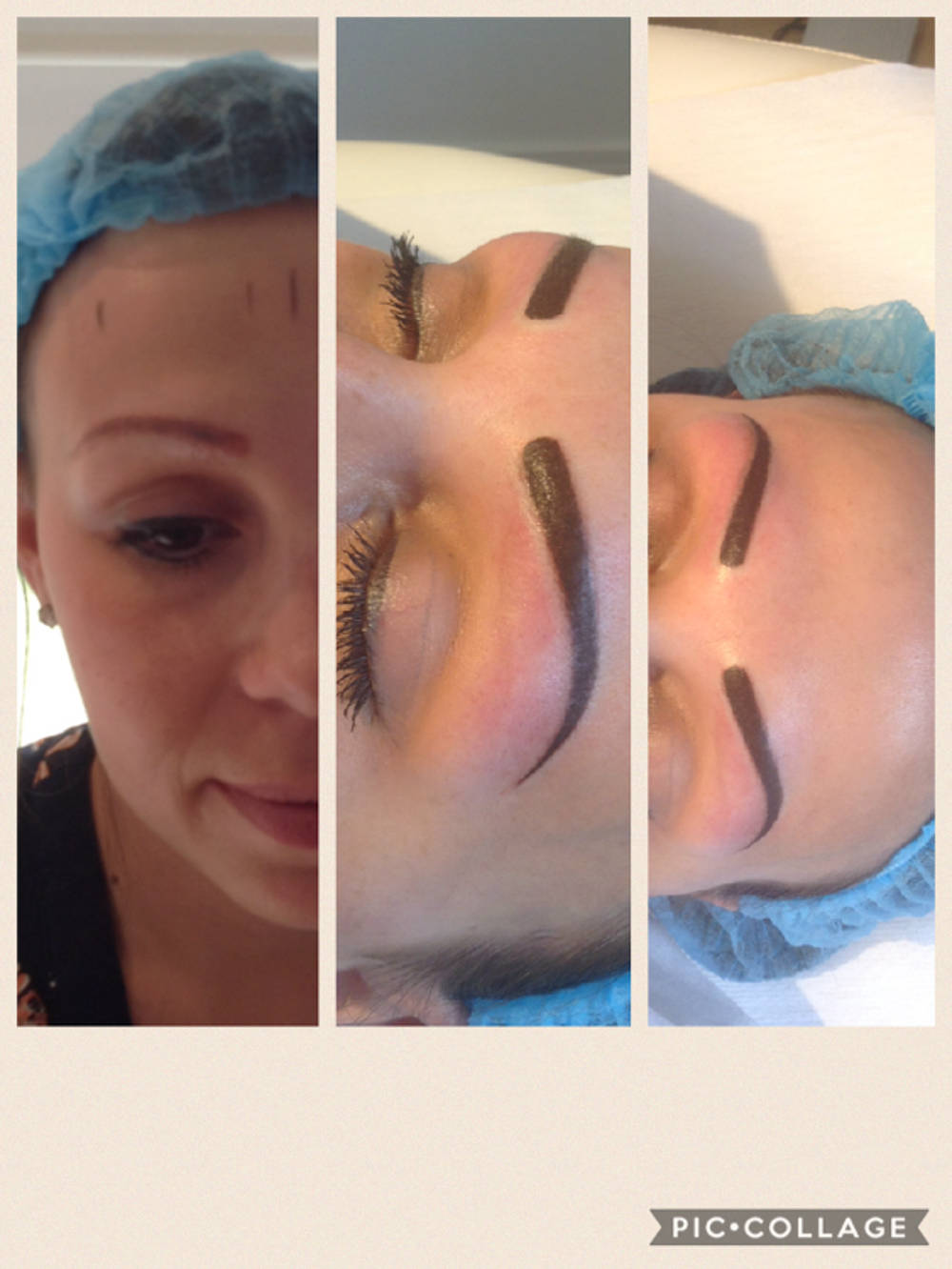 Correction of old brows with new powder brow