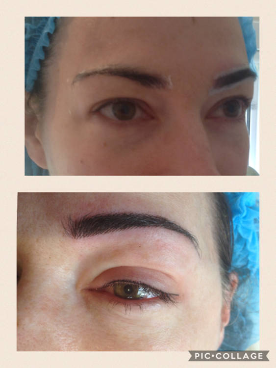 Hair strike brow and lash enhancement